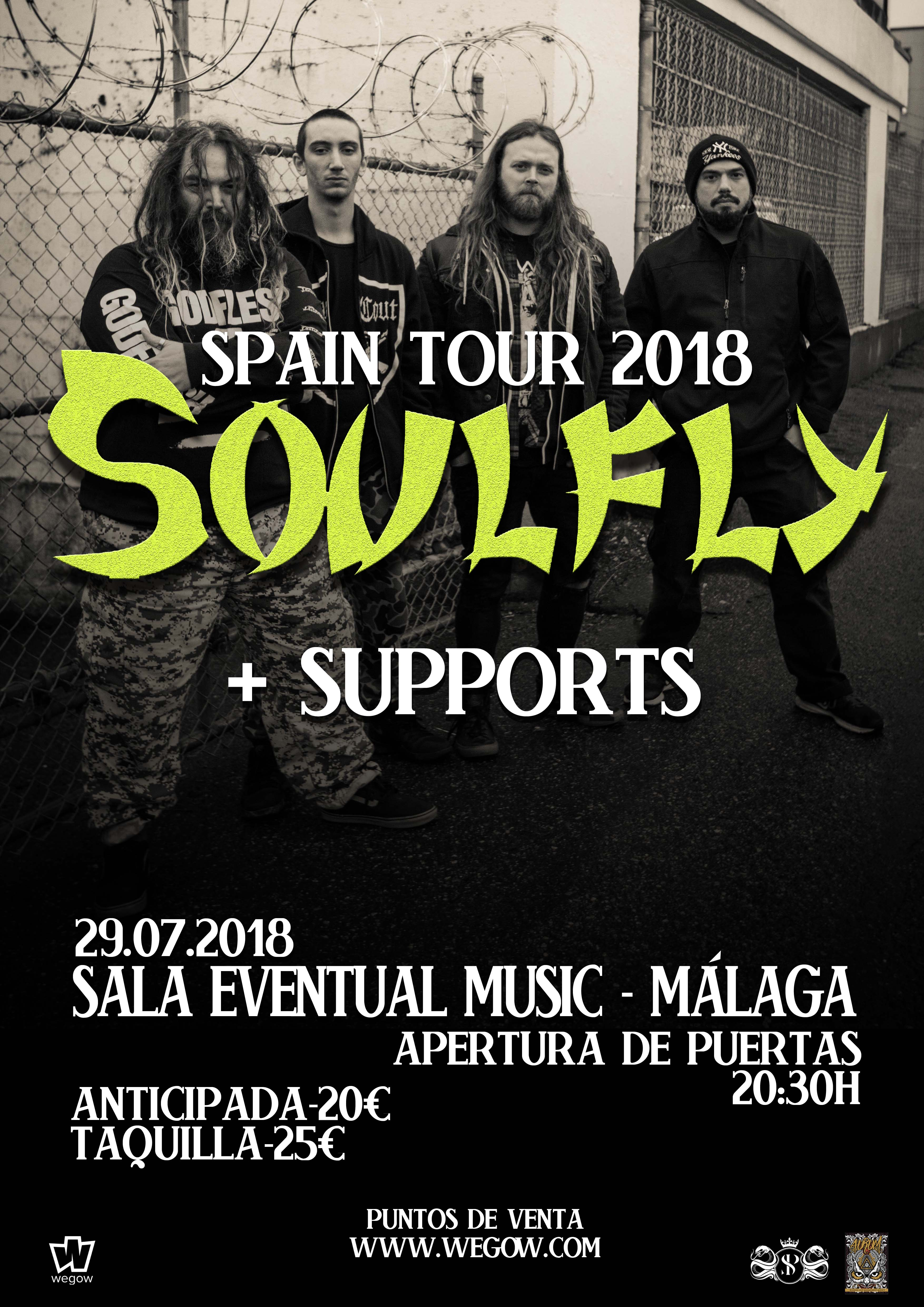 SOULFLY + supports